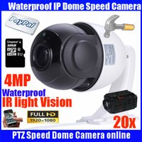 Wholesale Dome Camera Indoor Outdoor - 4 MP 4 inch Mini Size Network Onvif PTZ IP speed dome 20X zoom ptz ip camera with 32GB TF card