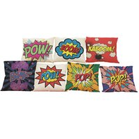 Wholesale sofa pillow pop art - Pop Art Style Linen Cushion Cover Home Office Sofa Square Pillow Case Decorative Cushion Covers Pillowcases Without Insert Inch