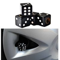 Haute qualité 4PCS / lot multicolore Dice Styling Shape Car Air Valve Caps Tire Roue Tige Truck Motocycle Cover Auto Accessoires