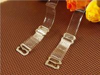 Wholesale Crystal Bras Strap - Women Clear Transparent Crystal Invisible Adjustable Bra Shoulder hook Straps