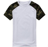 Wholesale Combat Shirt Free Shipping - Fashion 2017 Casual Camouflage T-shirt for Men Cotton Army Tactical Combat Military Sport Camo Camp Mens T Shirts Tees free shipping