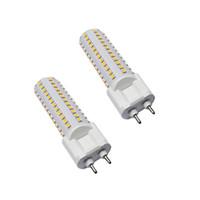 piste lumineuse led achat en gros de-Les ampoules brillantes élevées 10W 15W de SMD2835 G12 LED ont mené la lumière d'ampoule de maïs se substituant aux ampoules de lampe de suivi G12 réchauffent le blanc frais naturel AC85-265V