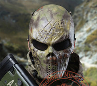 militärische taktische masken großhandel-Camouflage taktische Masken Outdoor-Militär Wargame Paintball Maske Airsoft Schädel Maske Mascaras Halloween Camo Kryptek Mandrake Vollgesicht