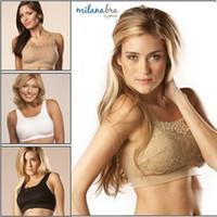 Wholesale Genie Bras Lace - New Hot Women Milana Bra By Genie Sports Yoga Bras For Women Lace Wire Free Ladies Genie Bra With Removable Pad Wholesale