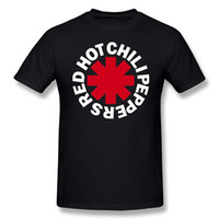 Wholesale Red Hot Chili Peppers - Red Hot Chili Peppers Band Classic Logo 2017 new High Quality 100% Cotton men's T Shirt cheap sell Free shipping