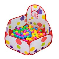 Atacado-Modern Pop-up Hexágono Polka Dot Crianças atirar bola Play Pool Tent Carry Tote Toy Feb25