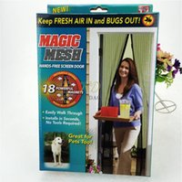 bug mesh magnetic screen door achat en gros de-Fly Mosquito Porte Anti Insect Net Netting Megic Mesh Hands-Free Screen Aimants magnétiques populaire Keep Fresh Bugs out
