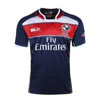 Wholesale Usa Rugby Jerseys Xxl - Free shipping!NRL National Rugby League USA United States Rugby jersey navy blue