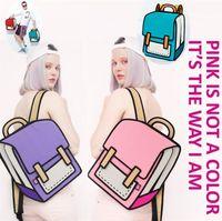 Wholesale new camera 3d for sale - New colors Gismo Cartoon Bag fashion D Jump Style D Drawing Cartoon D Shoulder Messenger Bag camera bag unisex backpack