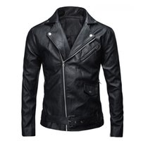 Wholesale Leather Jacket Wool Collar Men - Wholesale- 2016 PU Leather Jacket Men Basic Coat Wool Leather Men's Jackets Slim suede Leather Motorcycle Jackets Trench Parkas Plus Size