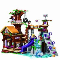 Wholesale BELA Friends Adventure Camp Tree House tire swing Model Building Minis Blocks Girl Toys Compatible
