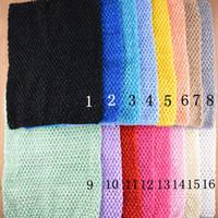 Wholesale 12 Crochet Tube Tops - 12 inch Baby Girl Elastic Chest Wrap Infant Waffle Crochet Headband Baby Rayon Tutu Tube Tops Girl Hairband 24x32cm XT