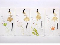 Wholesale Vintage Gold Metal Bookmark Marque Page Kawaii Leaf Book Markers For Books Stationery Gift School Supplies