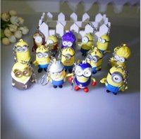 Wholesale Minion Led - Wholesale a lot kinds of Led Minions Keychains,Despicable Me 3 minion,talk Minions with flashlight and sound,led keyrings