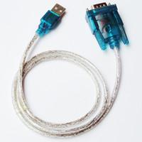 adaptadores usb rs232 venda por atacado-Novo CH340 USB para RS232 Porta COM Serial PDA 9 pinos Cabo Adaptador DB9 Suporte Windows7 Atacado