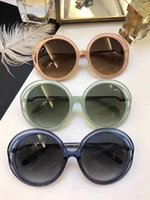 Wholesale len cases - Luxury Round Transparent frame CL3614 Sunglasses Grey Gradient Len Women Fashion Designer Sunglasses Brand New with Case