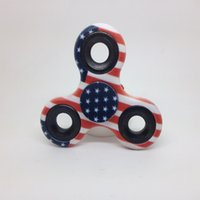 Wholesale Camouflage Stockings - USA flag Camouflage Hand Spinner cute American Flagl Printing EDC Fidget Spinner HandSLpinner Fingertip in stock by DHL to USA