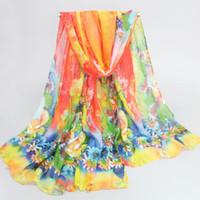 Wholesale Ladies Scarf Veil - Wholesale- 2017 Newest Autumn and Spring scarf women fashion women's long scarf print veil scarves ladies stoles soft warm shawls