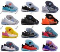 Wholesale Men Soccer Shoes Venom - 2017 New Arrival Kobe Venomenon 6 Triple Black Sports Basketball Shoes for Top Quality 6s Venom Independence Retro Training Sneakers 39-46