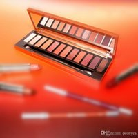 Wholesale Newest Waterproof Case - Newest Naked Eyeshadow Palette 12 Colors Professional Makeup Case NK Cosmetics set Make up Set With Makeup Brushes Hot Heat By free shipping