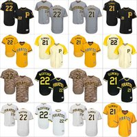 Wholesale Pittsburgh Pirates Authentic Jersey - 2016 Flexbase Authentic Collection Men Pittsburgh Pirates 22 Andrew McCutchen 21 Roberto Clemente baseball jerseys Stitched S-4XL