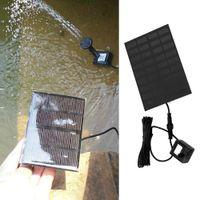 Wholesale 9v motors - 9V Brushless Motor Solar Water Panel Powered Fountain Pool Watering Pump Submersible Watering Display PTSP
