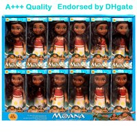 Wholesale Doll Toys For Girls - 16cm x 7.5cm Moana Barbie Dolls Classic Moana Pincess Plastic Dolls Action Figure toys for Girls box pack