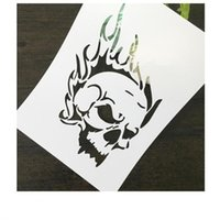 Wholesale Mask For Wall - DIY white stencils pattern design Masking template For Scrapbooking,cardmaking,painting,DIY cards and wall painting-The skull 091