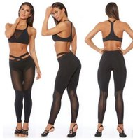 Wholesale Tattoo Looking Leggings - 2017 new summer net yarn stitching look out wearing leggings pants sports compression pants fashion pants fashion tattoos show thin fitness