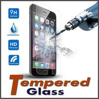 vaso a8 al por mayor-Pantalla de cristal templado 9H premium protector contra arañazos de la película para el iPhone 7 6 5 6S Plus 5S Samsung S7 S6 A8 A9 Nota5