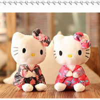 Wholesale Anime Cloths - 2017 NEW typical Creative Stuffed Animal Toy Hello Kitty Kimono KT Kawaii Doll Anime Toy For Girl Birthday's Gift Kid Toy