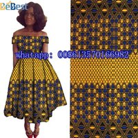 Wholesale Cheap Wax Print Fabric - Cheap African Print material Ankara African Wax Print Fabric for Dresses African Fabric Real Wax Print Patchwork H17031303