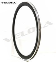 Wholesale Alloy Clincher Rims - Outlet ! 50mm clincher Alloy braking surface carbon wheels road bike wheelset carbon rim with alloy brake track, 2-Year-warranty