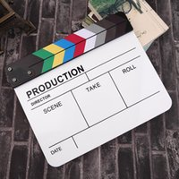 Wholesale Kindle Board - Professional Colorful Clapperboard Clapper Board Acrylic Dry Erase Director TV Movie Film Action Slate Clap Handmade Cut Prop