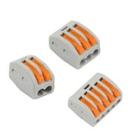 tipos de conectores terminales al por mayor-(60) y 213 tipo pct-212 215202020 5P 2P 3P + + terminal universal compacto conector de cable bloque de terminales