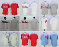 Wholesale Wholesale Jersey Pullover - Philadelphia Phillies 7 Maikel Franco 27 Aaron Nola Baseball Jersey White Red Blue Grey Pullover Cool Base Stitched