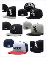 Wholesale Cheap Sports Logo Hats - Wholesale cheap New Chicago White Sox Embroidery Logo Fitted Hats Men Women Structured Fit Classic Sport Baseball Cap