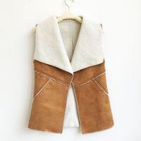 Wholesale Lambs Fur Vest - Women winter vests short waistcoat lamb faux fur Warm 7color 4size S-XL drop shipping new 2016 pink black sleeveless blazer