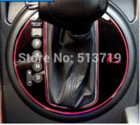 Wholesale Accesories For Cars - car stickers gear cover special with R label gear stick car accesories interior accessories for KIA Sportage R 1pcs