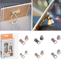 Wholesale Rings Holders - Universal dash board magnetic metal ball 360°rotate cell phone ring holder car mount for iphone 7 and Mini Tablets Creative promotion gift