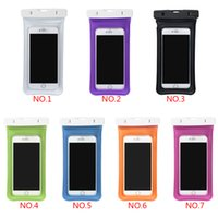 Wholesale Inflatable Mobile Phone - Wholesale Inflatable Waterproof Pouch Mobile Phone Bags 30M Underwater Dry Case Cover For iphone 5 5S 6 6S Plus for Samsung S8