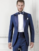 Wholesale Tuxedos For Wedding Party - Bright Blue One Button Groom suits for Wedding 2017The Best Man Suits For mens Suits Business Party tuxedos (Pant+Jacket+Tie) Custom Made
