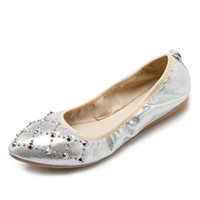 Wholesale Ballet Flats Size 34 - Lady Foldable Ballet Flats Size 34-41 2017 Spring Solid Women Soft Flat Shoes Woman PU Light Pointed Toe Casual Shoes Women's Footwear A001