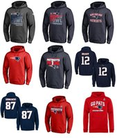 Wholesale Hoodie England - Men's Sweatshirts New England Salute to Service Player Performance 12 tom brady american football Hoodie