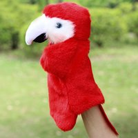 Wholesale Stuffed Parrot Toys - Animal Parrot Children Hand Puppet Kids Plush Doll Stuffed Toy Baby Kawaii Puppet for Christmas Birthday Gift