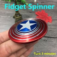 Wholesale Metal fingertips gyro Creative Captain America Shield Hand Spinner Iron Man Fidget Alloy Puzzle Toys EDC Autism ADHD Finger Gyro Toy Gifts