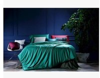 Wholesale Egyptian Cotton Sets - Blue Green Bedding sets Egyptian Cotton sheets bed linen quilt duvet cover bedspread bed in a bag bedset King Queen size 4PCS