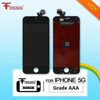 Grau A +++ para iPhone 5 5C 5S LCD Display Touch Screen Digitizer Montagem completa com fone de ouvido Anti-Dust Mesh Free Installed Cheap Price