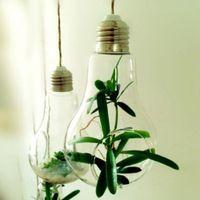 nueva bombilla de vidrio de lmpara de la forma de la flor de planta de