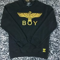 Wholesale White Boy London Sweatshirt - Wholesale-Cotton Boy London Mens Hoodies And Sweatshirts Brand Long Sleeve Sportwear Clothes Autumn Thin Coat Fashion Black Sweatshirt Men